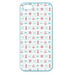 Seamless Nautical Pattern Apple Seamless iPhone 5 Case (Color)