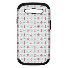 Seamless Nautical Pattern Samsung Galaxy S III Hardshell Case (PC+Silicone)