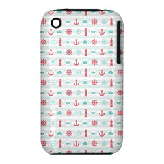 Seamless Nautical Pattern Apple iPhone 3G/3GS Hardshell Case (PC+Silicone)