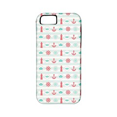 Seamless Nautical Pattern Apple iPhone 5 Classic Hardshell Case (PC+Silicone)