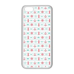 Seamless Nautical Pattern Apple iPhone 5C Seamless Case (White)