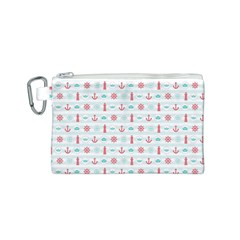 Seamless Nautical Pattern Canvas Cosmetic Bag (S)