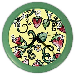 Strawberry Pattern Color Wall Clocks