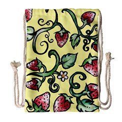 Strawberry Pattern Drawstring Bag (Large)