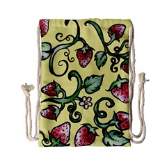 Strawberry Pattern Drawstring Bag (Small)