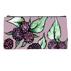 Black Raspberry Fruit Purple Pattern Pencil Cases