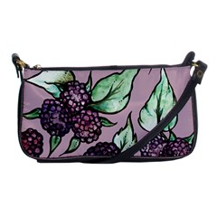 Black Raspberry Fruit Purple Pattern Shoulder Clutch Bags