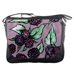 Black Raspberry Fruit Purple Pattern Messenger Bags
