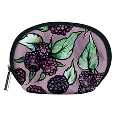 Black Raspberry Fruit Purple Pattern Accessory Pouches (Medium)