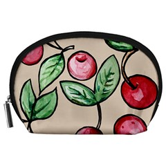 Cherry Pattern Accessory Pouches (large)