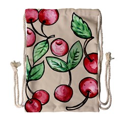 Cherry Pattern Drawstring Bag (large)