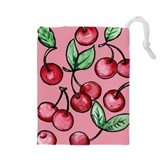 Cherry Pattern Drawstring Pouches (large)