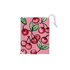 Cherry Pattern Drawstring Pouches (XS)