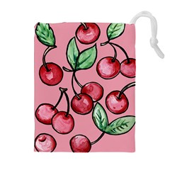 Cherry Pattern Drawstring Pouches (extra Large)
