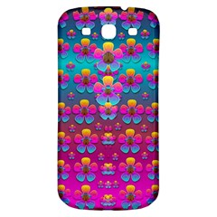 Freedom Peace Flowers Raining In Rainbows Samsung Galaxy S3 S III Classic Hardshell Back Case