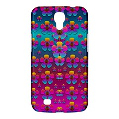 Freedom Peace Flowers Raining In Rainbows Samsung Galaxy Mega 6 3  I9200 Hardshell Case