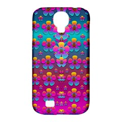 Freedom Peace Flowers Raining In Rainbows Samsung Galaxy S4 Classic Hardshell Case (pc+silicone)