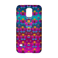 Freedom Peace Flowers Raining In Rainbows Samsung Galaxy S5 Hardshell Case