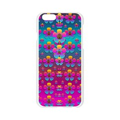 Freedom Peace Flowers Raining In Rainbows Apple Seamless iPhone 6/6S Case (Transparent)
