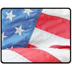 Folded American Flag Fleece Blanket (medium)
