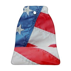 Folded American Flag Bell Ornament (2 Sides)