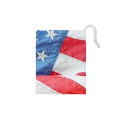 Folded American Flag Drawstring Pouches (xs)
