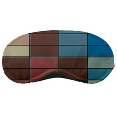 Rectangles In Retro Colors Pattern                      			sleeping Mask