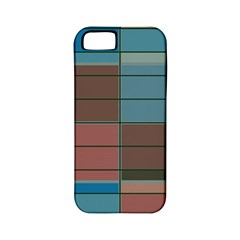 Rectangles In Retro Colors Pattern                      apple Iphone 5 Classic Hardshell Case (pc+silicone)