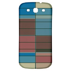 Rectangles In Retro Colors Pattern                      samsung Galaxy S3 S Iii Classic Hardshell Back Case