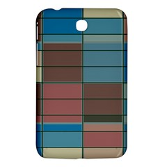 Rectangles In Retro Colors Pattern                      samsung Galaxy Tab 3 (7 ) P3200 Hardshell Case