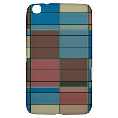 Rectangles In Retro Colors Pattern                      			samsung Galaxy Tab 3 (8 ) T3100 Hardshell Case