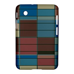Rectangles In Retro Colors Pattern                      			samsung Galaxy Tab 2 (7 ) P3100 Hardshell Case
