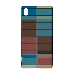 Rectangles in retro colors pattern                      			Sony Xperia Z3+ Hardshell Case