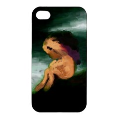 Hand Painted Lonliness Illustration Apple iPhone 4/4S Hardshell Case