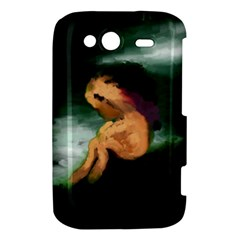 Hand Painted Lonliness Illustration HTC Wildfire S A510e Hardshell Case