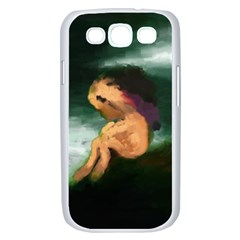 Hand Painted Lonliness Illustration Samsung Galaxy S III Case (White)