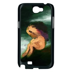 Hand Painted Lonliness Illustration Samsung Galaxy Note 2 Case (Black)