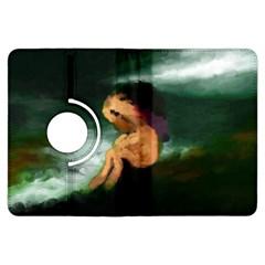 Hand Painted Lonliness Illustration Kindle Fire HDX Flip 360 Case