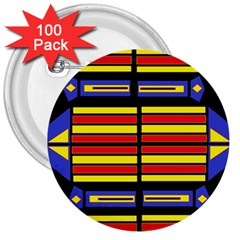 Flair One 3  Buttons (100 Pack)