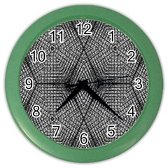 The Weave  Color Wall Clocks