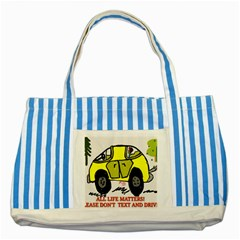 All Life Matters! Striped Blue Tote Bag