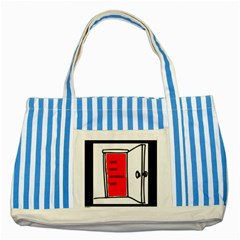 The Open Door Policy Striped Blue Tote Bag