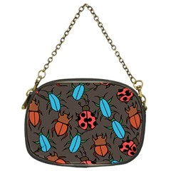 Beetles And Ladybug Pattern Bug Lover  Chain Purses (Two Sides)