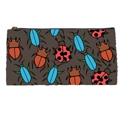 Beetles And Ladybug Pattern Bug Lover  Pencil Cases