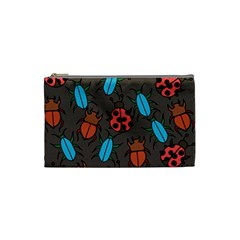 Beetles And Ladybug Pattern Bug Lover  Cosmetic Bag (Small)