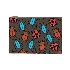 Beetles And Ladybug Pattern Bug Lover  Cosmetic Bag (Large)