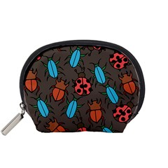 Beetles And Ladybug Pattern Bug Lover  Accessory Pouches (Small)