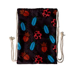 Beetles And Ladybug Pattern Bug Lover  Drawstring Bag (Small)