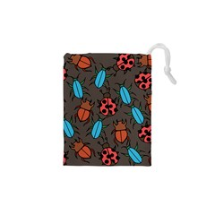 Beetles And Ladybug Pattern Bug Lover  Drawstring Pouches (XS)