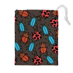 Beetles And Ladybug Pattern Bug Lover  Drawstring Pouches (extra Large)